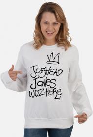 Jughead Jones Wuz Here - bluza biała damska