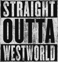 Straight Outta Westworld - koszulka męska