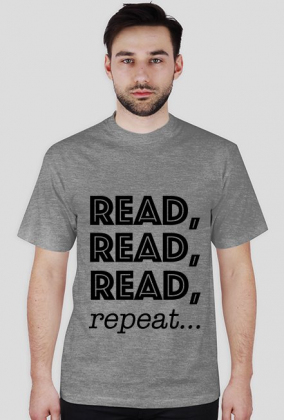 T-shirt męski Read, read, read, repeat...