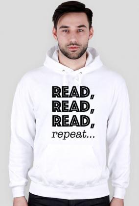 Bluza męska z kapturem Read, read, read, repeat...