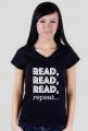 Koszulka damska Read, read, read, repeat...
