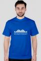 Męska niebieska koszulka z białym logo
