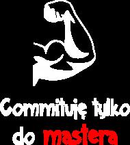 Koszulka: Commituję tylko do mastera dark