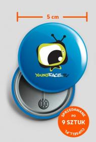 Przypinka YoungFace.TV
