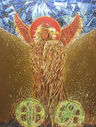 Koszulka z wizerunkiem Świętego Anioła.