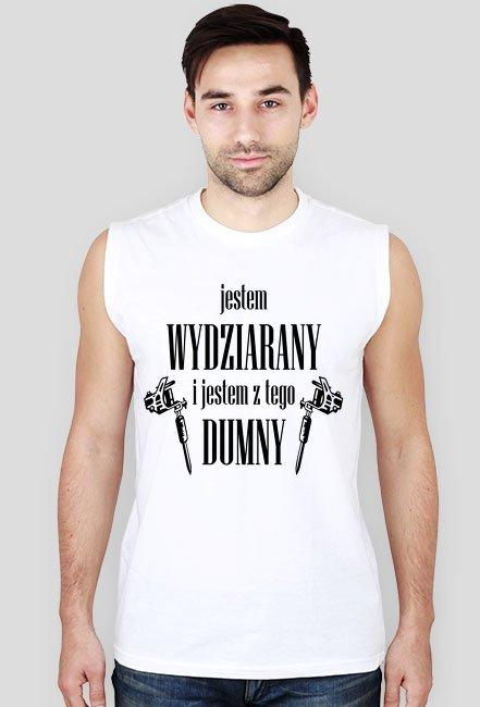 """Koszulka Męska """"Jestem Wydziarany i Jestem z Tego Dumny"""""""