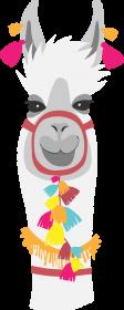 biała lama koszulka damska 2