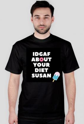 IDGAF Susan - Czarna Męska