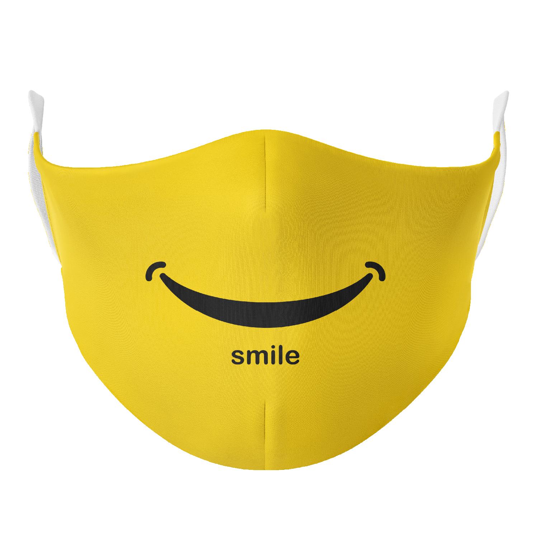 Zdjęcie rzeczywiste MASECZKA BAWEŁNIANA - YELLOW SMILE
