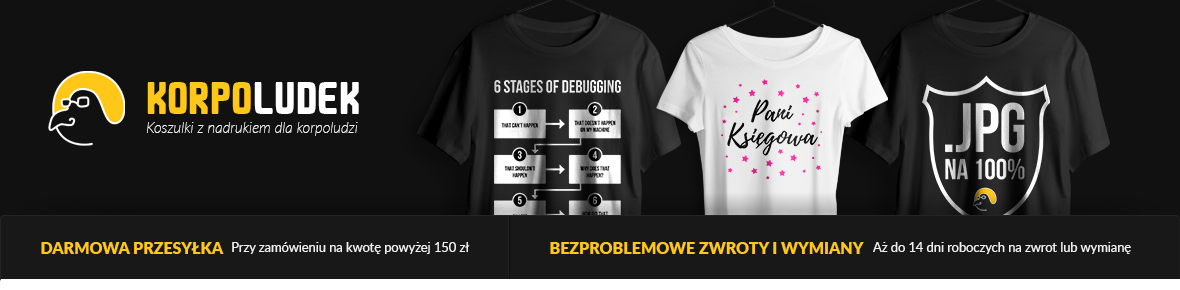 Korpoludek - Koszulki Informatyczne - Dziwne, u mnie działa - Pomysł na prezent dla programisty